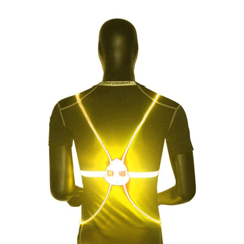 Pacific Pike -  BrightBug™ LED Visibility Vest  -  Yellow  -  Running Vest