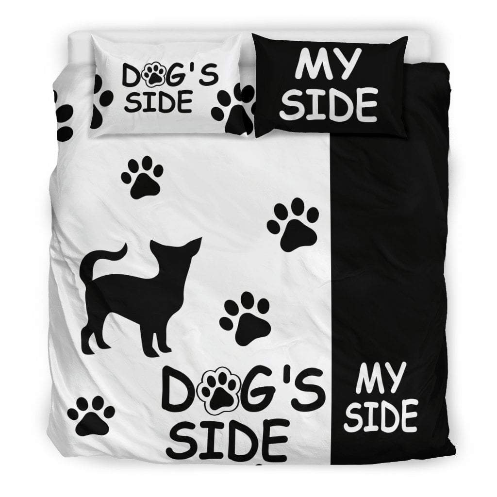 Pacific Pike -  Chihuahua Dog's Side My Side Bedding Set  -  Bedding Set / King  -  Bedding Set