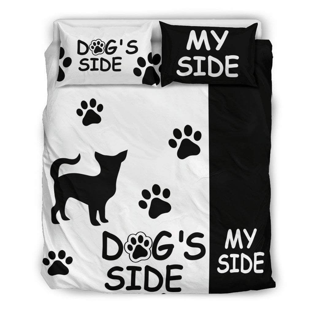 Pacific Pike -  Chihuahua Dog's Side My Side Bedding Set  -  Bedding Set / Queen/Full  -  Bedding Set