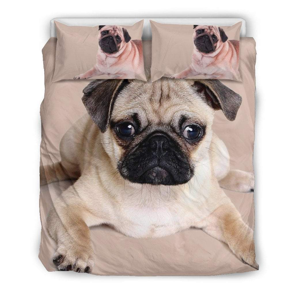 Pacific Pike -  Cute Pug I Bedding Set  -  Bedding Set / Queen/Full  -  Bedding Set