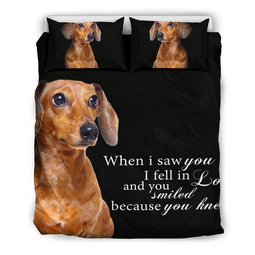Pacific Pike -  Dach Shund - When I saw you... Bedding Set  -  Bedding Set / Queen/Full  -  Bedding Set