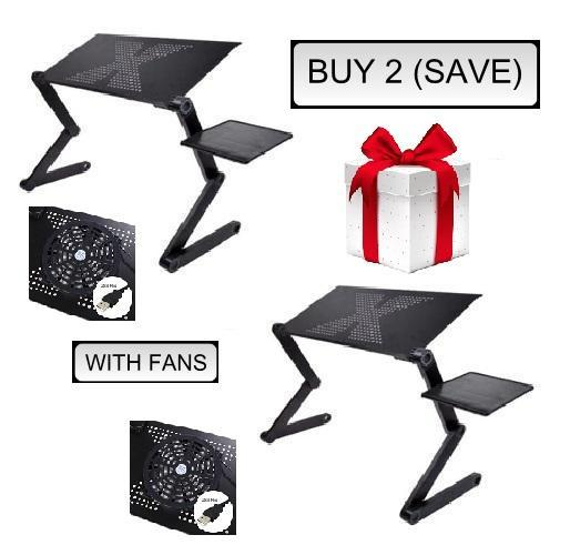Pacific Pike -  Ergonomic Executive Multi-functional Laptop Stand  -  BUY 2 (SAVE) / COOLING FAN UPGRADE  -  Lapdesks