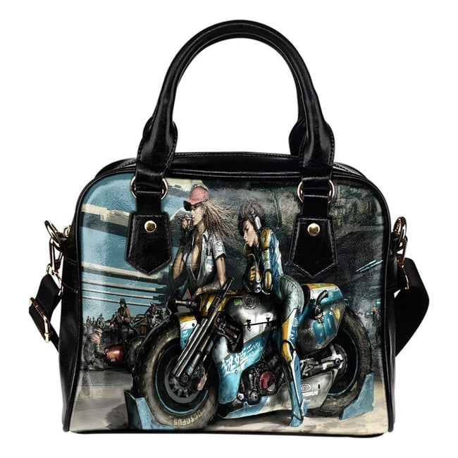Pacific Pike -  Fantasy Motorbike Leather Shoulder Bag  -  Fantasy Motorbike Leather Shoulder Bag  -  Purse