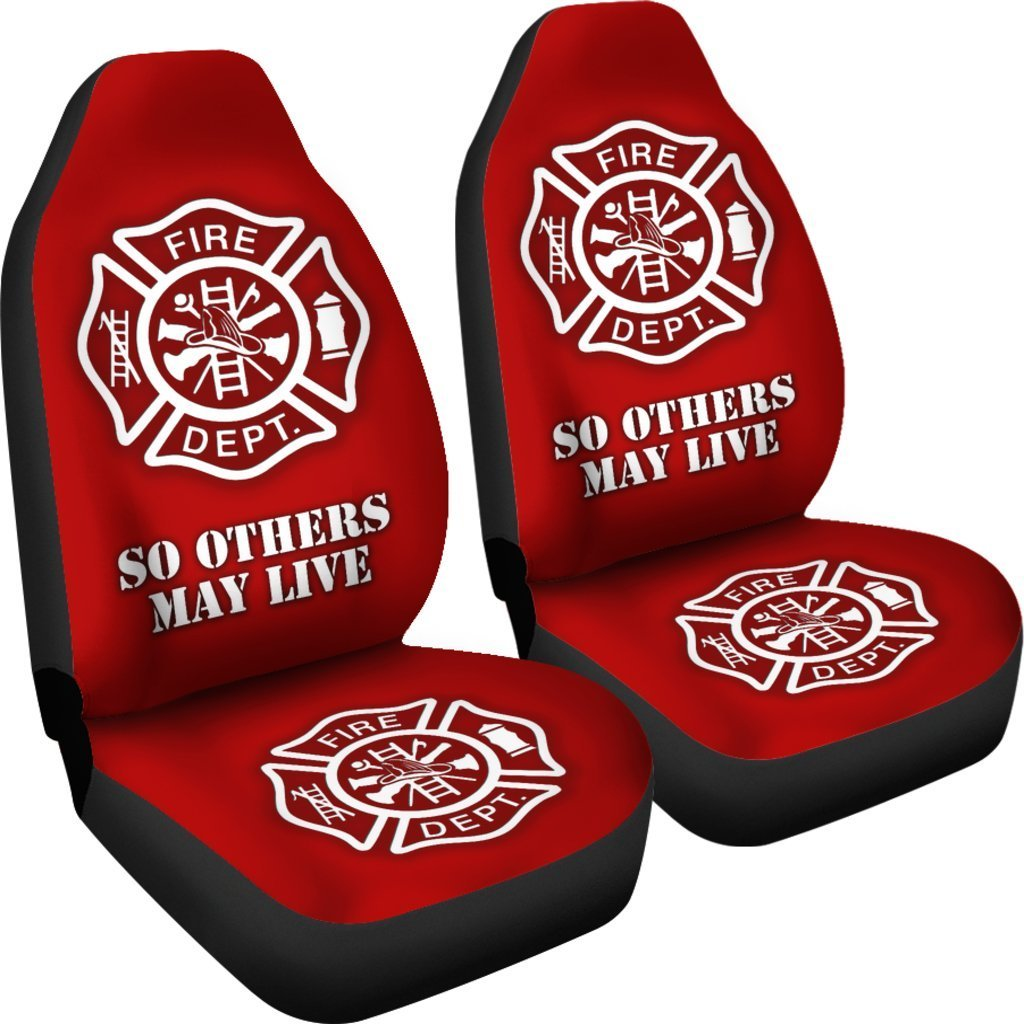 Pacific Pike -  Fire Department Red Car Seat Covers  -  Fire Department Red Car Seat Covers  -