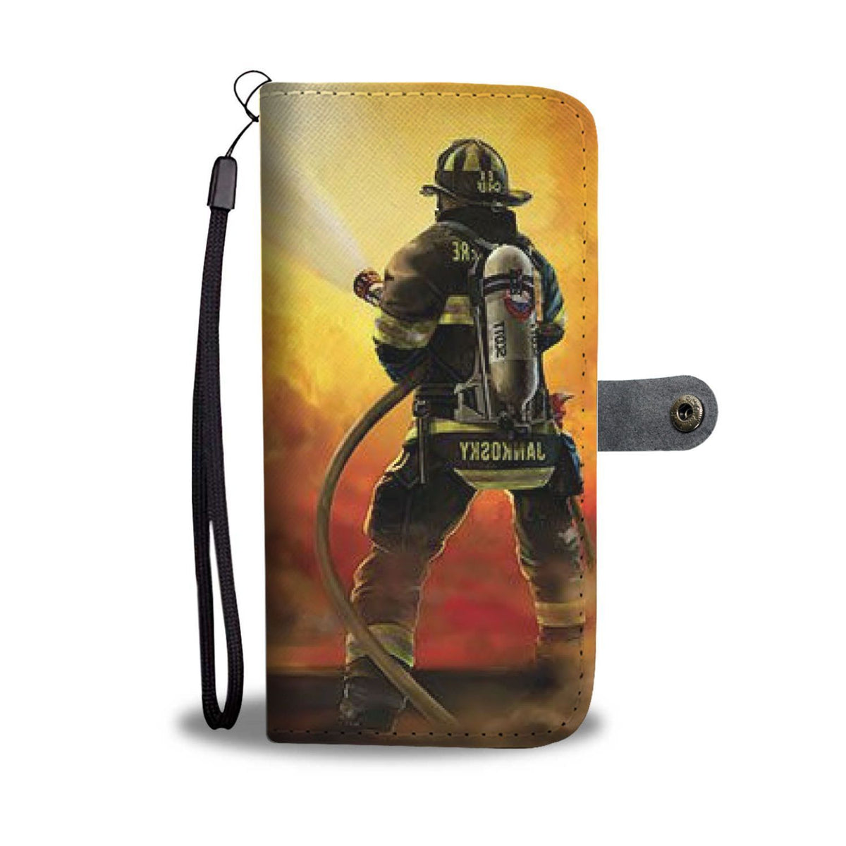 Pacific Pike -  Firefighter Custom Wallet Phone Case  -  iPhone X / Xs  -  Wallet Case
