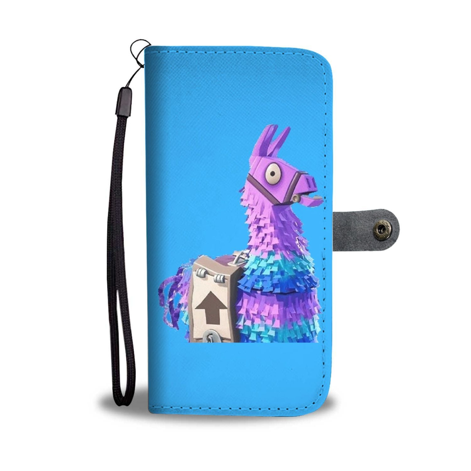 low priced 17322 63bd1 Fortnite Curious Llama Wallet iPhone Case