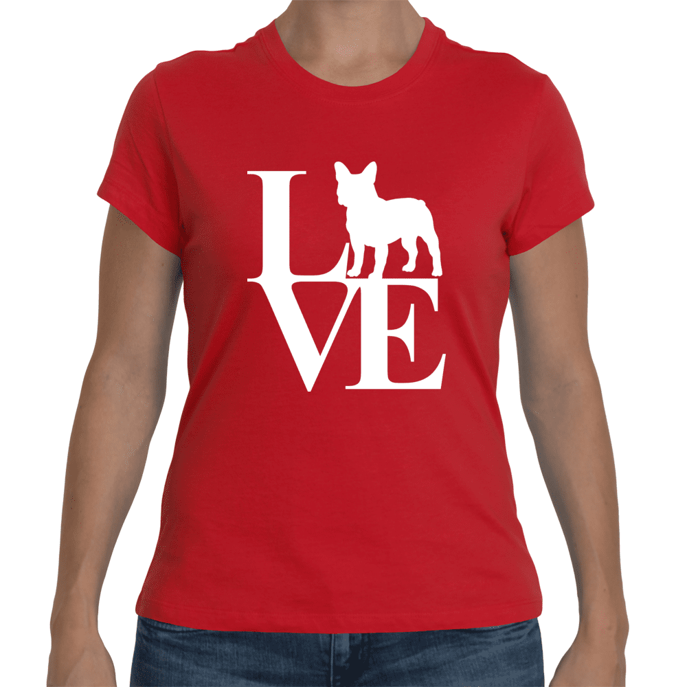 Pacific Pike -  French Bulldog Love Knit T-Shirt  -  Small / Black  -  tshirt