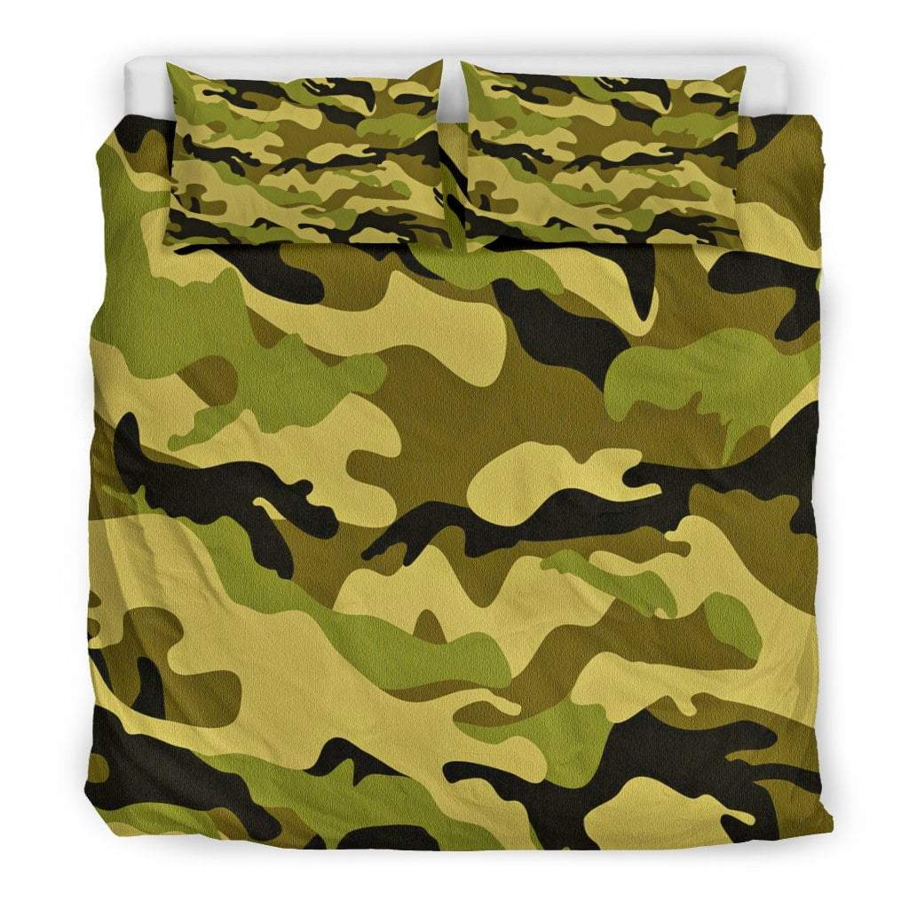 Pacific Pike -  Green Camo Doona Bedding Set  -  Bedding Set / King  -  Bedding Set