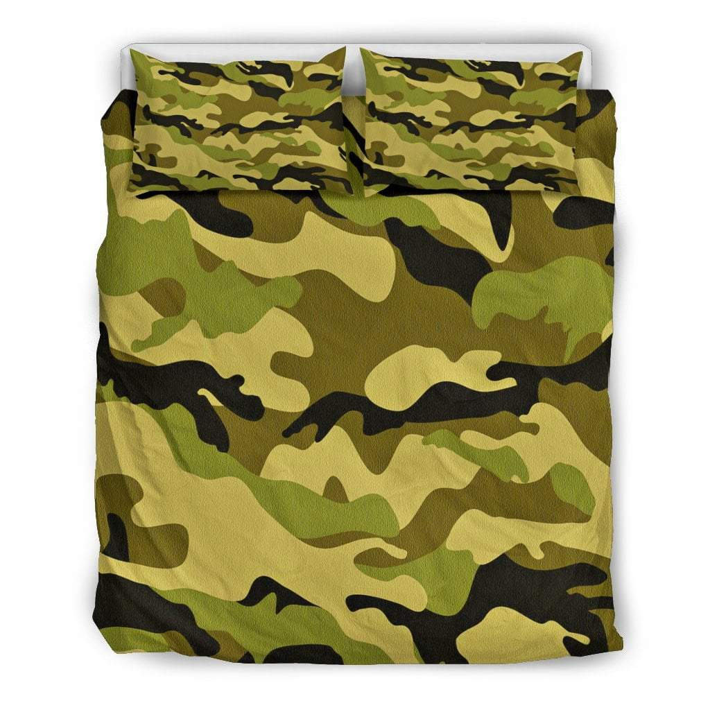 Pacific Pike -  Green Camo Doona Bedding Set  -  Bedding Set / Queen/Full  -  Bedding Set