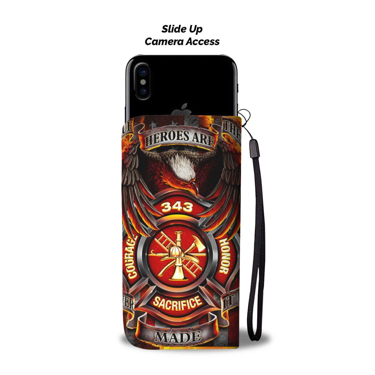 Pacific Pike -  Heroes Are Made Custom Wallet Phone Case  -  iPhone X / Xs  -  Wallet Case