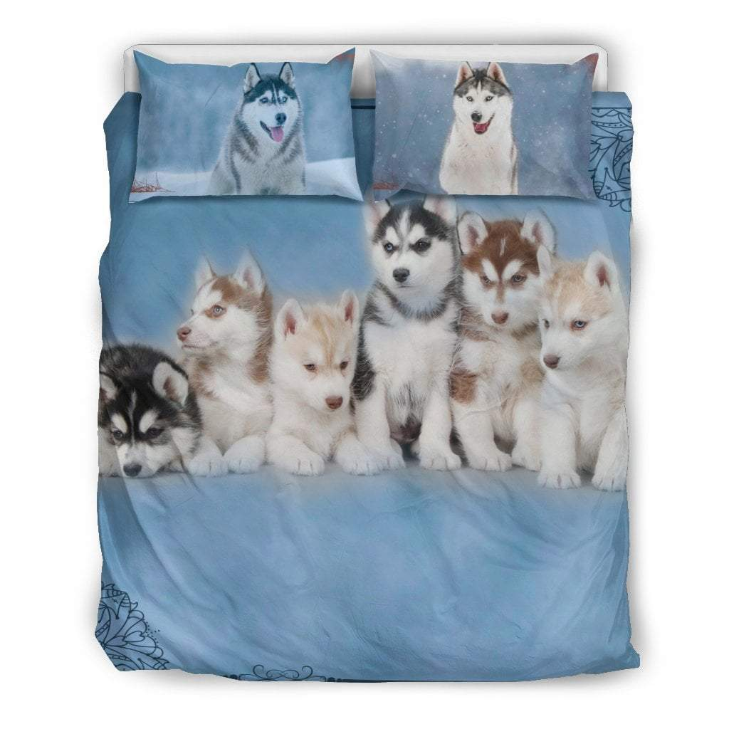Pacific Pike -  HUSKY FAMILY BEDDING SET  -  Bedding Set / Queen/Full  -  Bedding Set