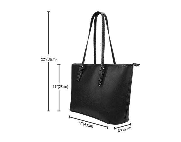 Pacific Pike -  I love Nursing Black Leather Tote Bag  -  I love Nursing Black Leather Tote Bag  -  Bag