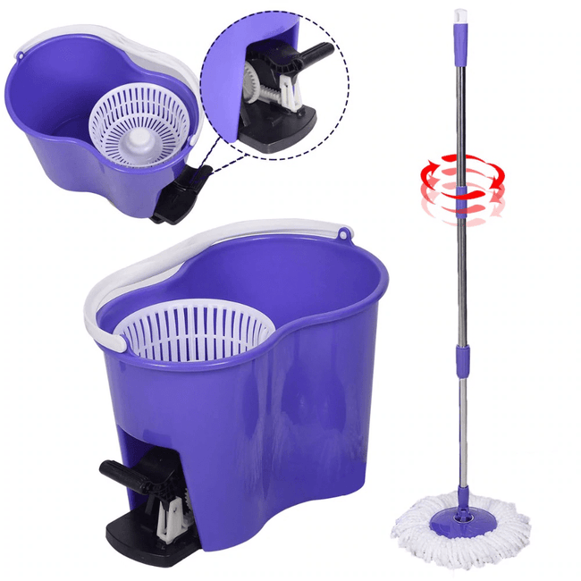 Pacific Pike -  Magic Spin Mop  -  Purple  -