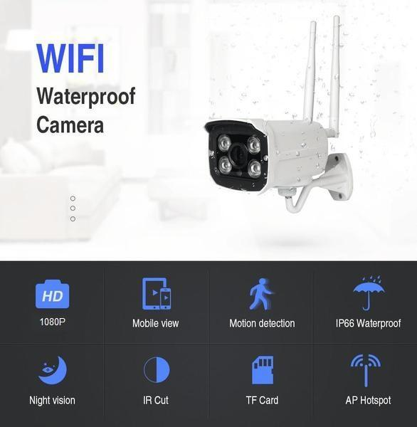 Pacific Pike -  MEGA 1080P Outdoor Waterproof IP Cloud Security Camera  -  1080p / US Plug / BUY ONE  -