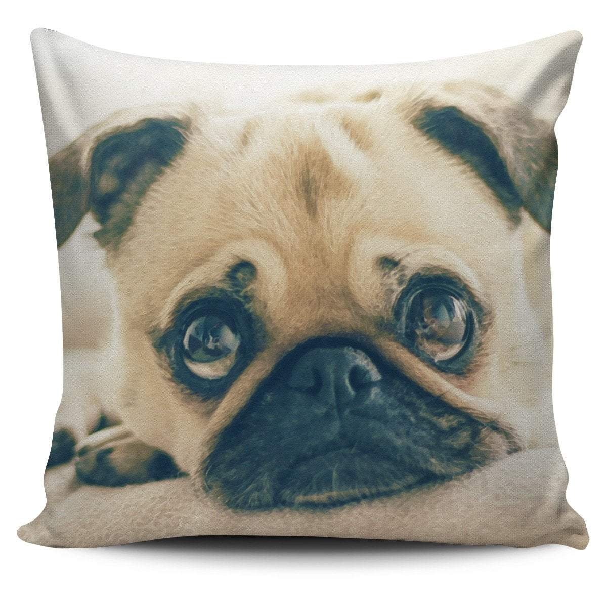 Pacific Pike -  Pillow Cover Pug Puppy Watercolor  -  Pillow Cover Pug Puppy Watercolor  -