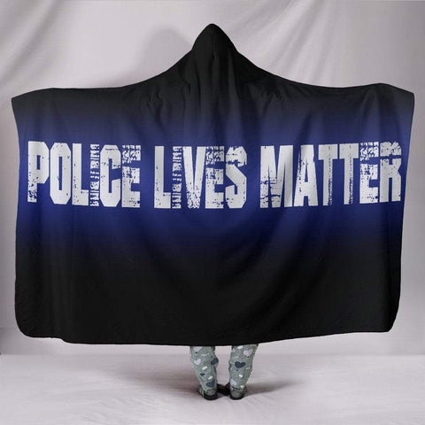"Pacific Pike -  Police Lives Matter Custom Hoodie Blanket  -  Hooded Blanket / Youth 60""x45""  -  Hooded Blanket"