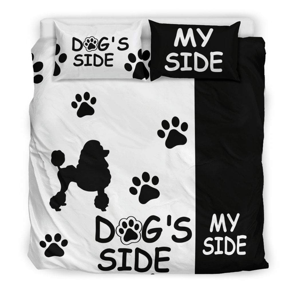 Pacific Pike -  POODLE DOG'S SIDE MY SIDE BEDDING SET  -  Bedding Set / King  -  Bedding Set