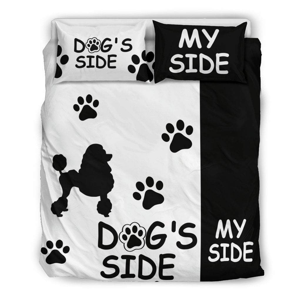 Pacific Pike -  POODLE DOG'S SIDE MY SIDE BEDDING SET  -  Bedding Set / Queen/Full  -  Bedding Set