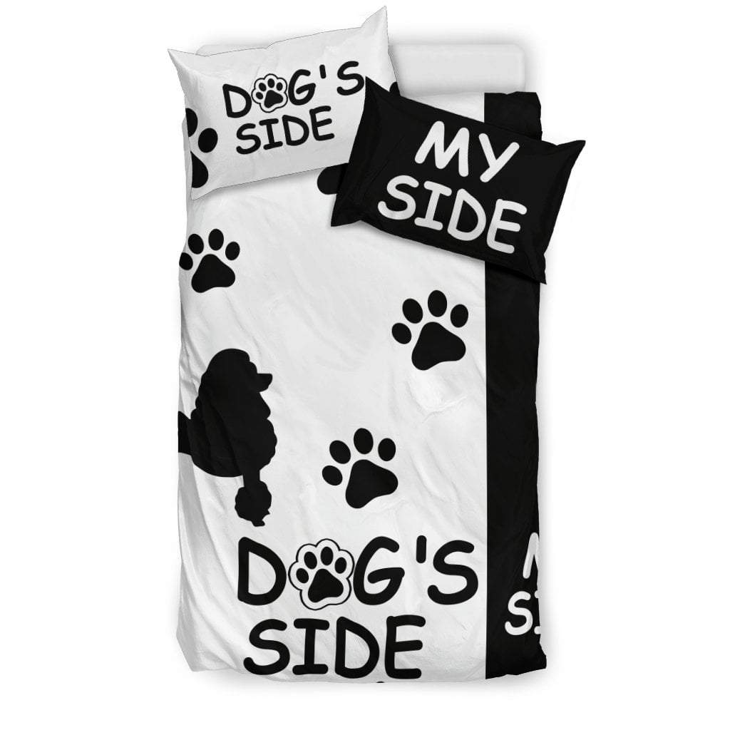 Pacific Pike -  POODLE DOG'S SIDE MY SIDE BEDDING SET  -  Bedding Set / Twin  -  Bedding Set