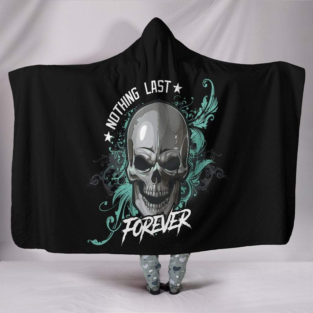 "Pacific Pike -  Skull Hooded Blanket  -  Hooded Blanket / Youth 60""x45""  -  Hooded Blanket"