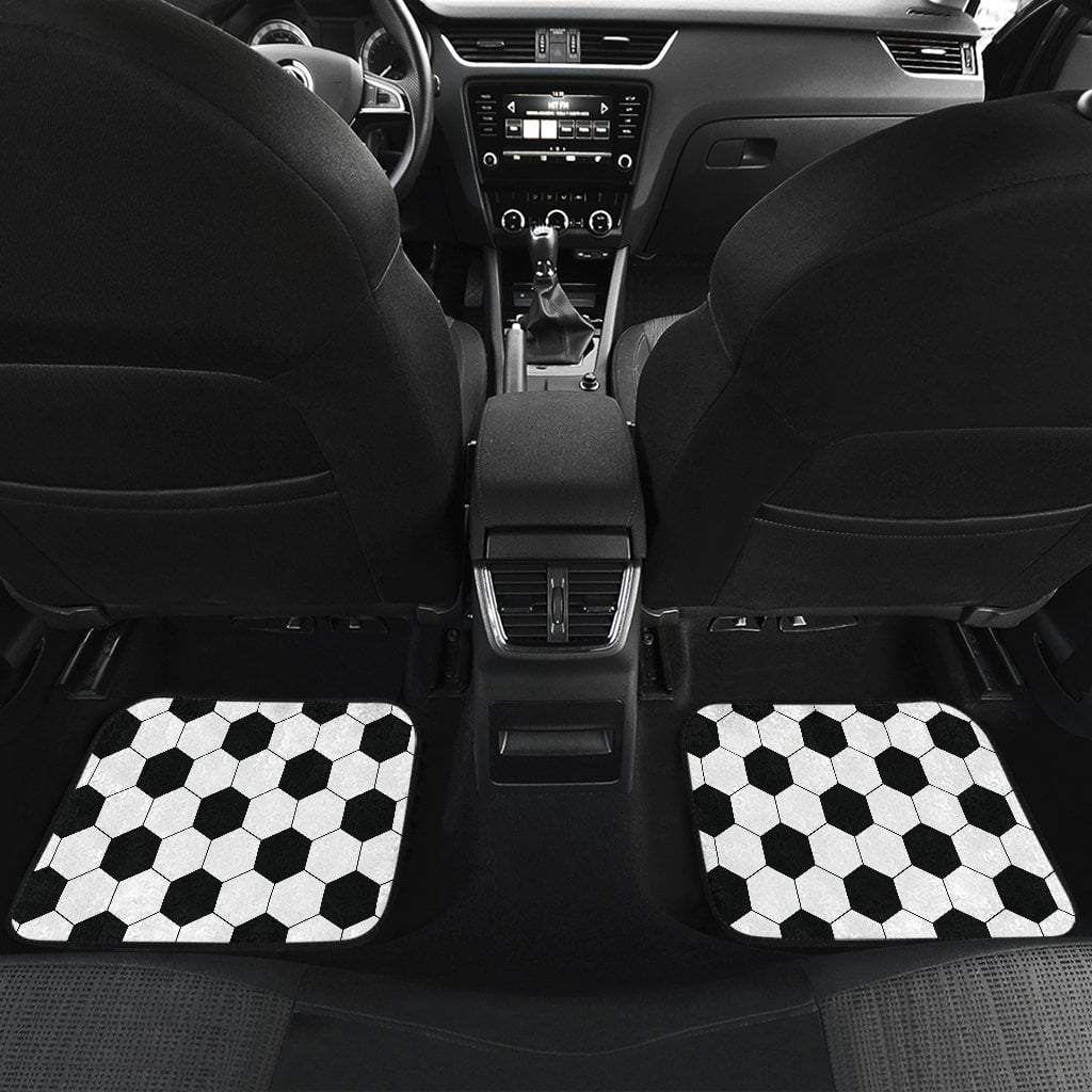 Pacific Pike -  Soccer Pattern Front And Back Car Mats (Set Of 4)  -  Soccer Pattern Front And Back Car Mats (Set Of 4)  -