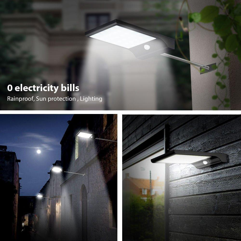 Pacific Pike -  SOLAR OUTDOOR MOTION SENSOR LIGHT  -  Black Shell / BUY ONE  -
