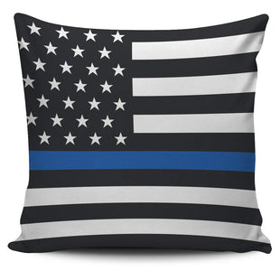 Pacific Pike -  Thin Blue Line Custom Pillow Cover  -   -