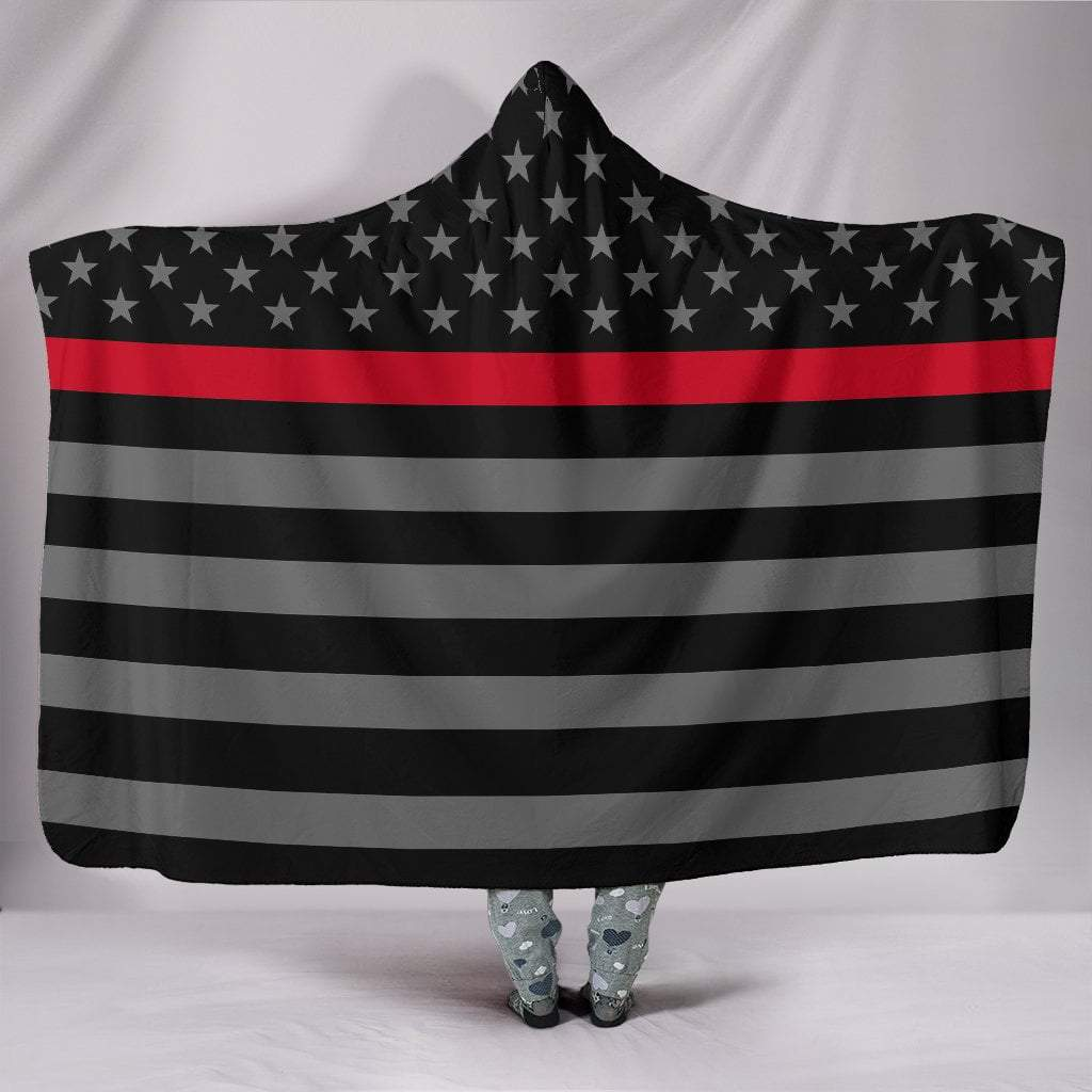 "Pacific Pike -  Thin Red Line Hooded Blanket  -  Hooded Blanket / Youth 60""x45""  -  Hooded Blanket"