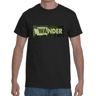 Pacific Pike -  Washington State Wander T-Shirt  -  Small / Black  -  Hidden