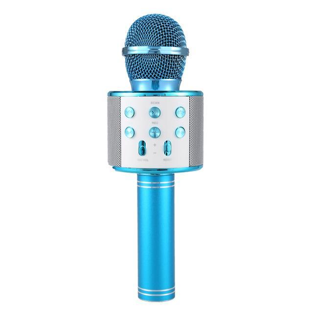Pacific Pike -  Wireless Bluetooth Karaoke Microphone FINAL SALE  -  Blue / BUY ONE  -  Hidden