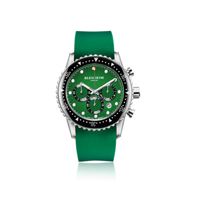 Blenheim London Chrono Pro Green Dial Watch