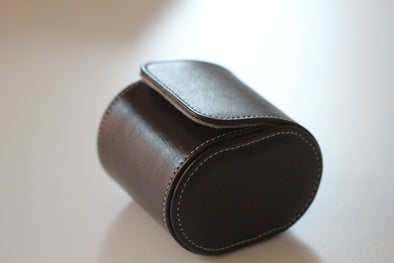 Hand-Made Leather Travel Case For One Watch