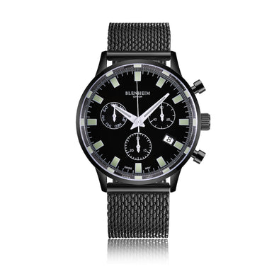 Blenheim London Pilot Watch Gunmetal Black
