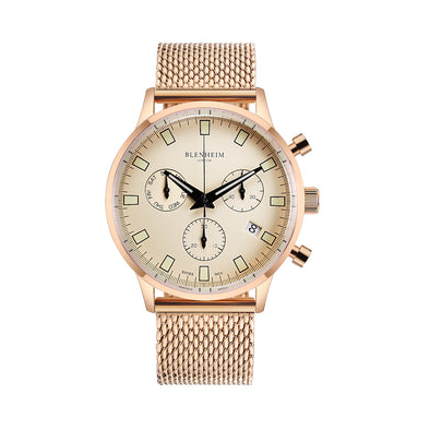 Blenheim London Pilot Watch Rose Gold