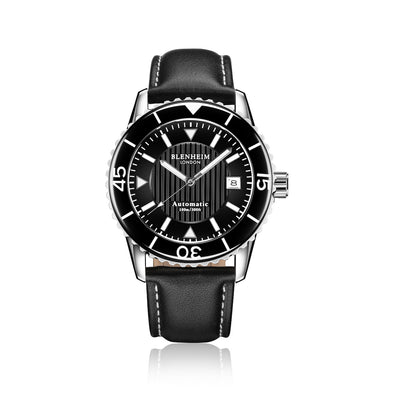 Blenheim London® Navi Pro Elegance Dial With Black leather strap