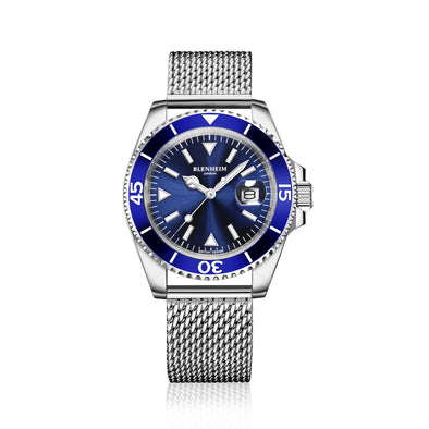 Navigator watch blue mesh strap
