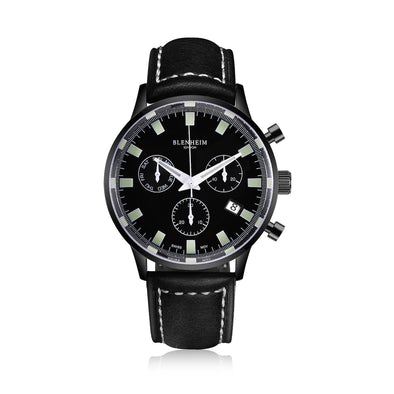 Blenheim London® Chronomaster Gunmetal Black Pilot Watch