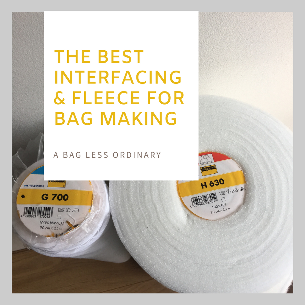 What Interfacing and fusible fleece I use for ABLO bags
