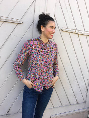 silk East floral shirt