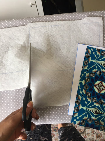 A Bag Less Ordinary designer Naadu Ashun cutting out fusible fleece