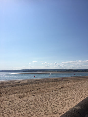 Long sandy beach at Exmouth in Devon