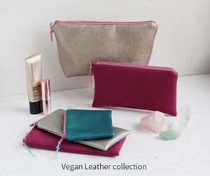 Vegan leather colourful handmade accessories