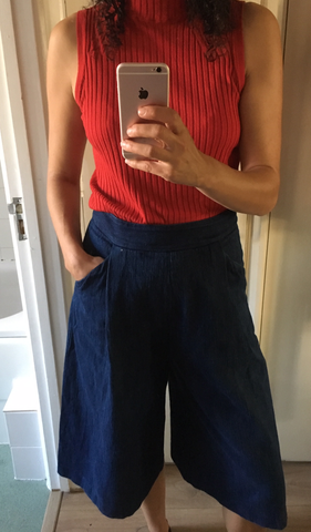 whistles culottes and m&S red top