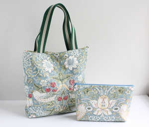 William Morris fabric tote bag by A Bag Less Ordinary
