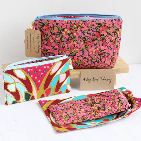 Pink Liberty & Ankara accessories gift set