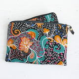Black Ankara fabric belt bag (no belt)