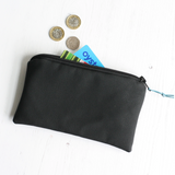 Black vegan leather purse