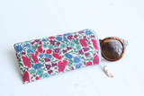 Floral fabric sunglasses case