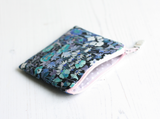 Blue floral Liberty fabric coin purse