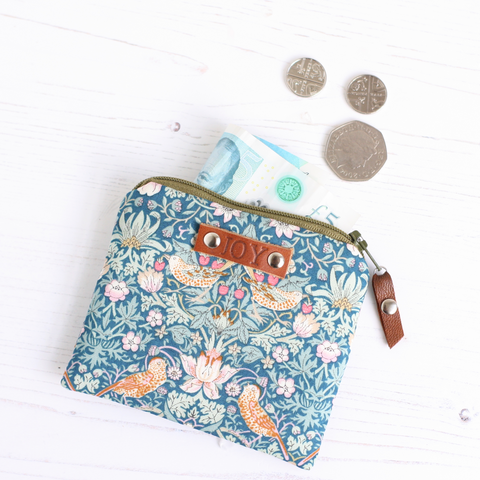 Blue floral Liberty fabric JOY purse